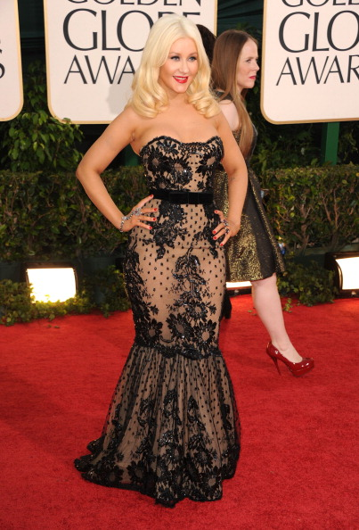 christina aguilera 2011 golden globes. Christina Aguilera